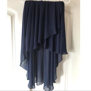 Dresses & Skirts - Navy blue high low skirt